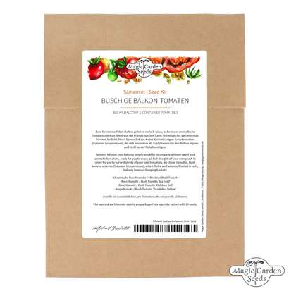Bushy Balcony & Container Tomatoes - Seed kit