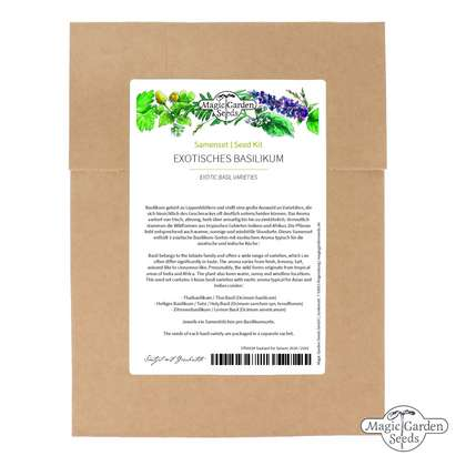 Seed kit: 'Exotic basil seeds', 3 Asian basil varieties with exotic aromas
