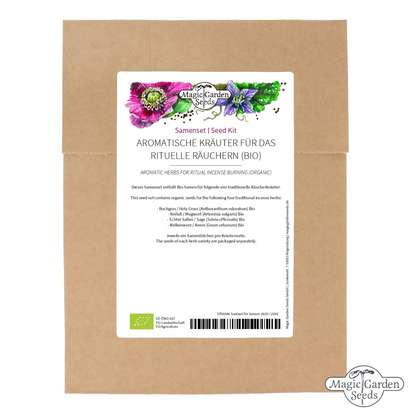 Aromatic Herbs for Ritual Incense Burning  (Organic) - Seed Kit