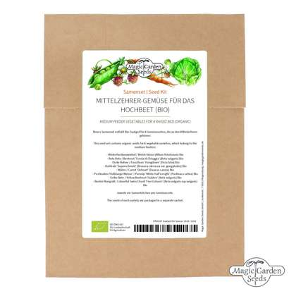 Medium Feeder Vegetables For A Raised Bed (Organic) - Seed kit